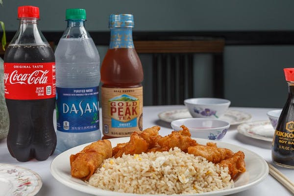 6. Sweet & Sour Chicken Plate Coca-Cola Combo