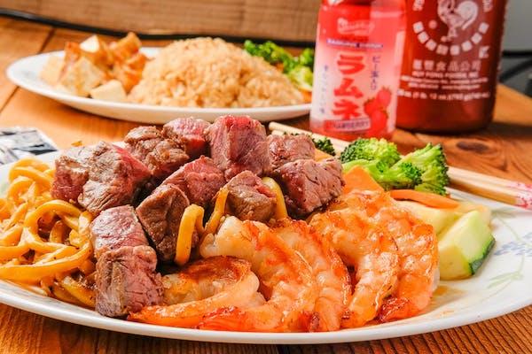 Steak & Shrimp Veggie Mixed Noodles