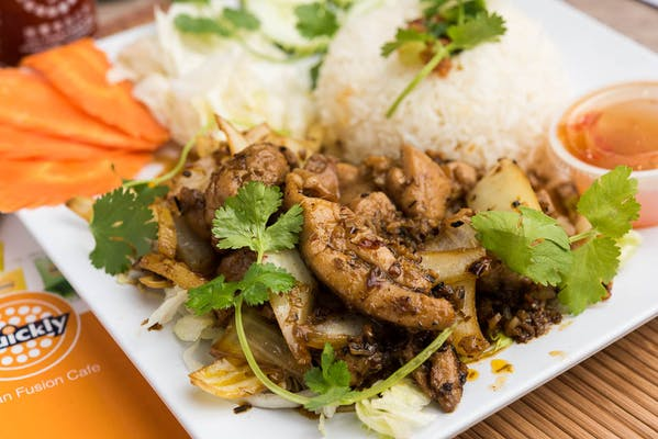 Lemongrass Grilled Chicken Rice Plate