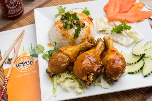 Sweet & Sour Chicken Drumstick Rice Plate