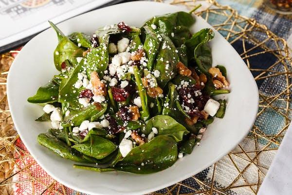 Cranberry Walnut Spinach Salad
