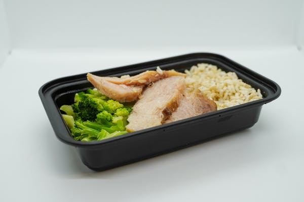 #1  Roasted Chicken, Roasted Broccoli & Brown Rice