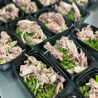 #9 pulled pork and green beans
