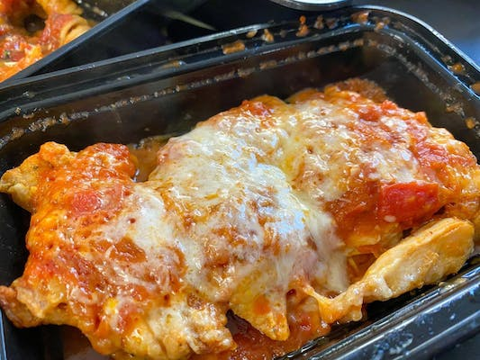 #9 Chicken parmesan, ( roasted chicken with marinara and parmesan cheese)