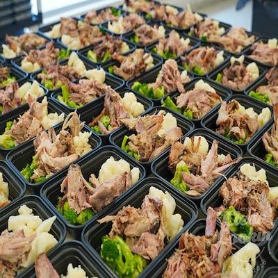 #11 Pulled Pork, Roasted Broccoli & Cauliflower