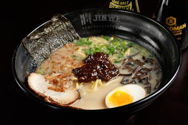 Black Bean Garlic Sauce Tonkotsu Ramen