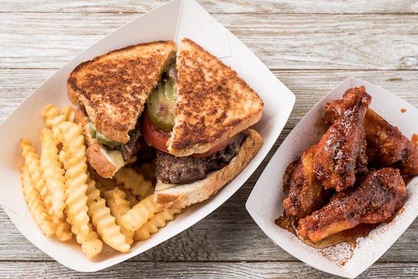 Burger Wing Combo