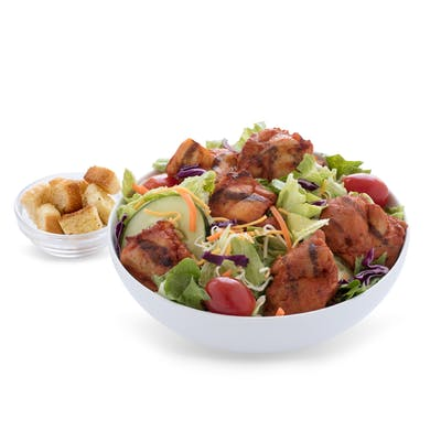 Roasted Chicken Bites Salad