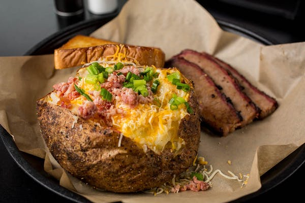 #1 Baked Potato with BBQ Meat & (24 oz.) Drink