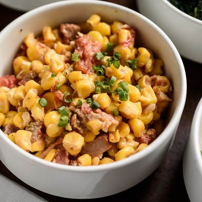 Corn & Tasso Macque Choux