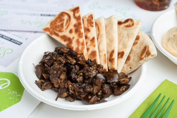 Marinated Eggplant with Pita Chips