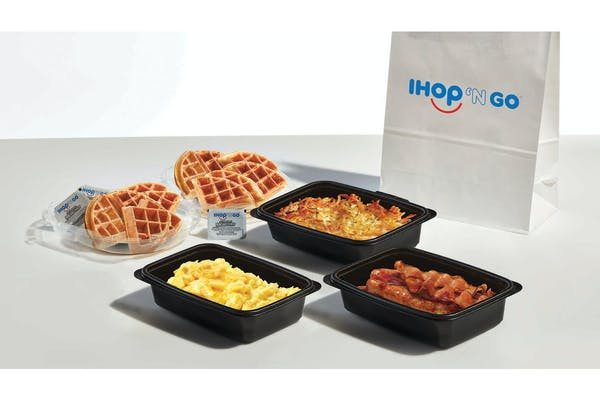 Breakfast Family Feast with Waffles