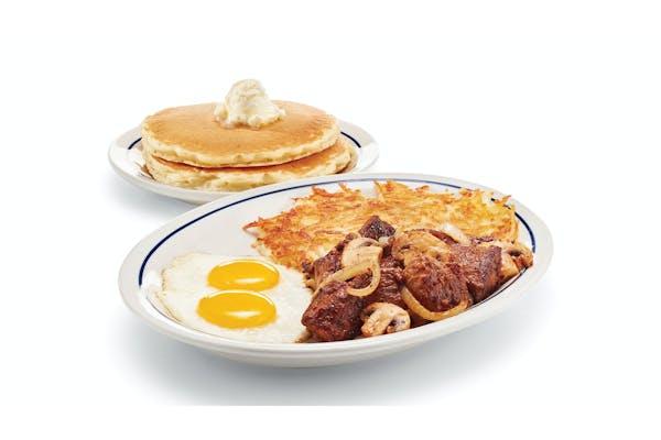 Sirloin Steak Tips & Eggs
