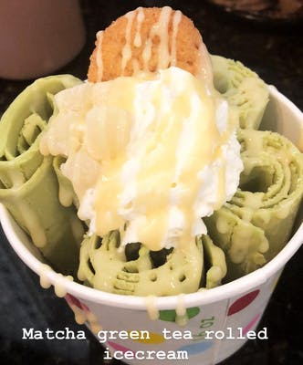 Matcha Green Tea Rolled Ice Cream