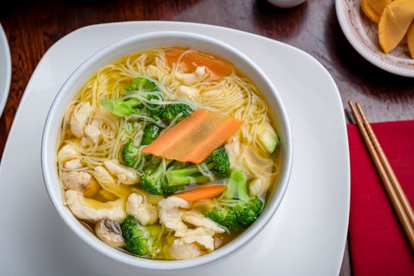 Chicken Thin Rice Noodle Soup