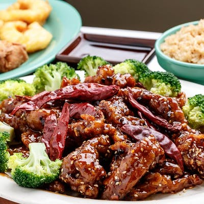 C8. General Chicken with Sweet & Sour Shrimp
