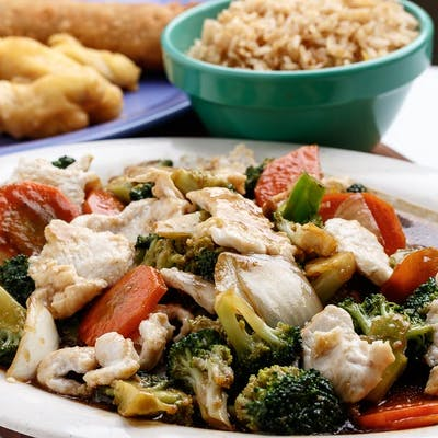 C10. Broccoli Chicken with Sweet & Sour Pork