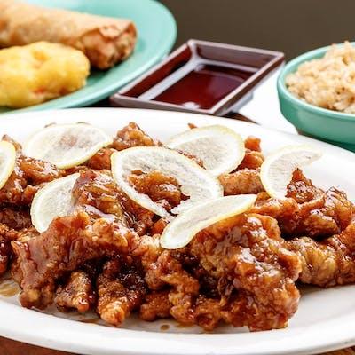 C12. Orange Chicken with Sweet & Sour Shrimp
