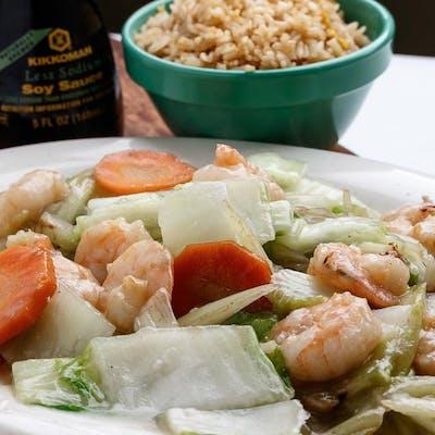 D2. Shrimp Chow Mein Platter