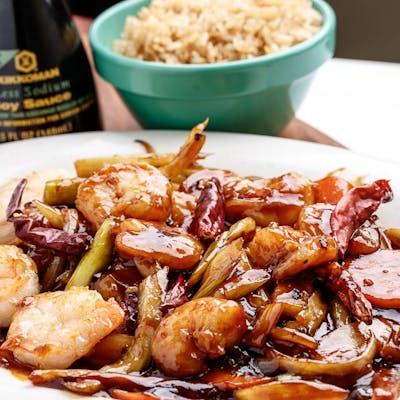 D4. Sweet Vinegar Garlic Shrimp Platter