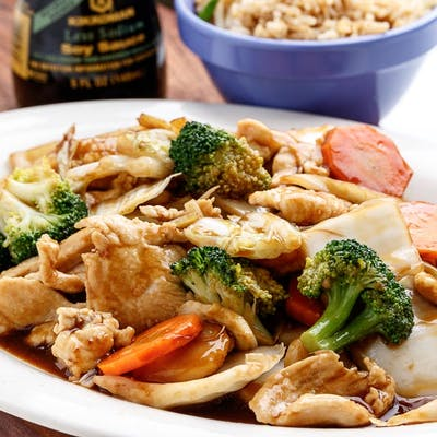 D17. Chicken & Mixed Vegetables Platter