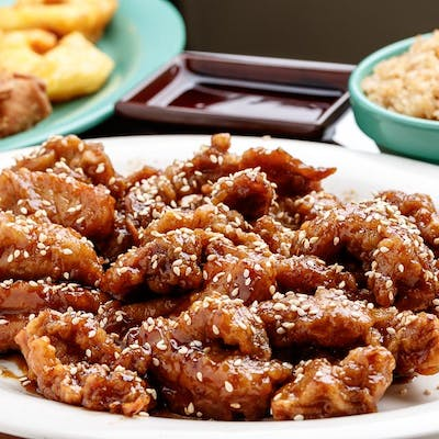 C11. Sesame Chicken with Sweet & Sour Shrimp