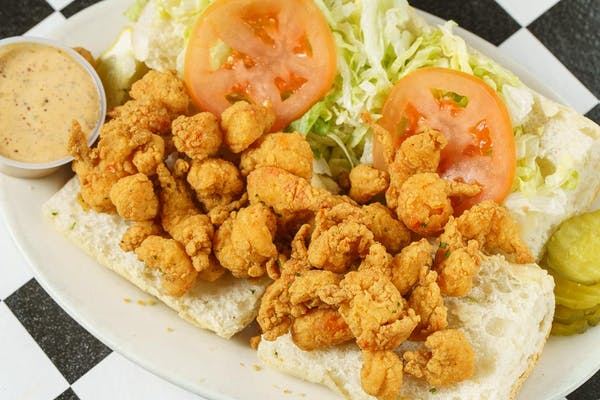 Fried Crawfish Po-Boy