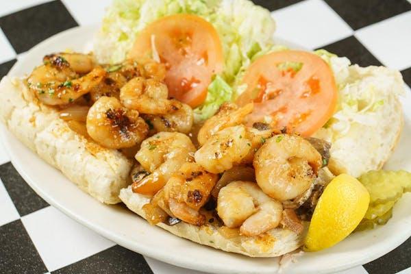 Grilled Marinated Shrimp Po-Boy