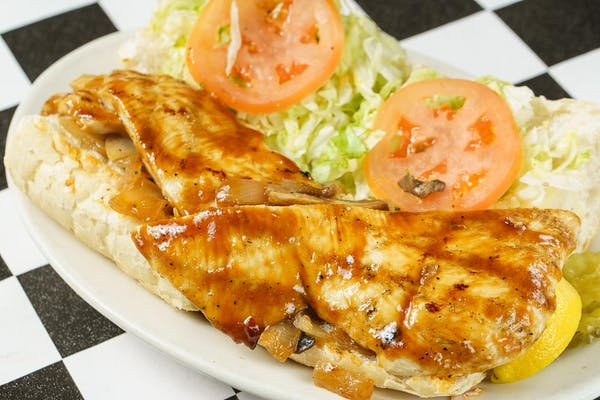 Grilled Marinated Chicken Po-Boy