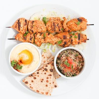 Grilled Tawook Kabob Platter