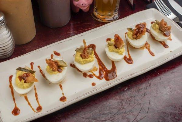 Deviled Eggs & Chicken Tender