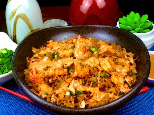 Volcano Crawfish Fried Rice