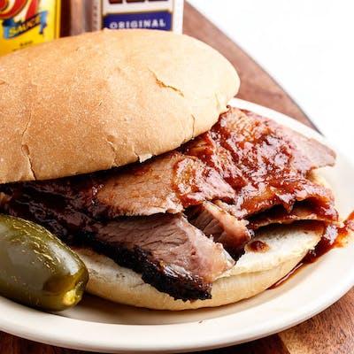 Sliced Brisket Sandwich