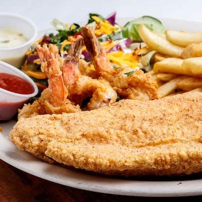 Fried Catfish & (3) Shrimp