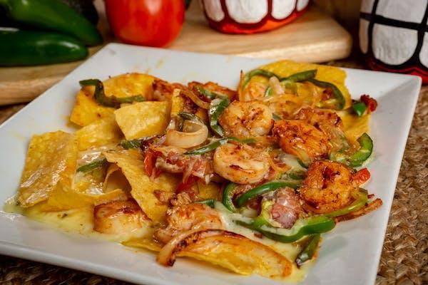 Shrimp Fajita Nachos
