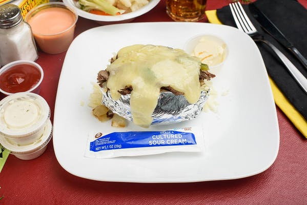 Philly Cheesesteak Baked Potato