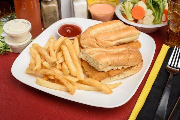 Flounder Fish Sandwich