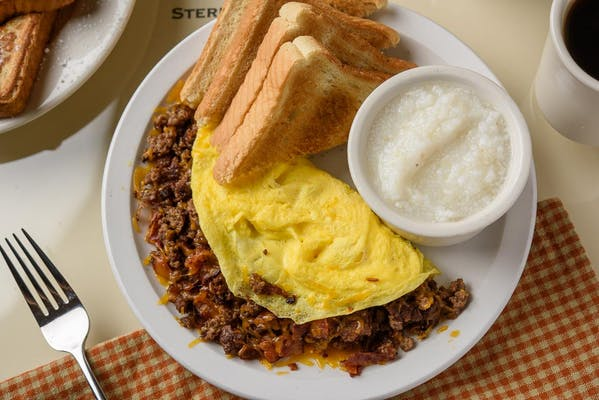 Bacon Cheeseburger Omelet