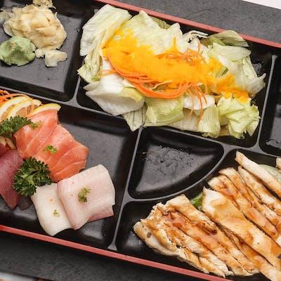 Chicken Teriyaki & Sashimi