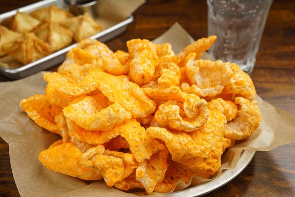 Cheeto-Rones Fried Pork Skins