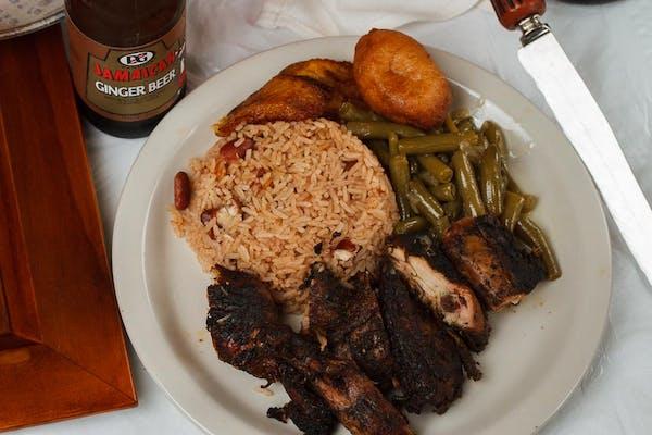 Lunch Jerk or Curry Chicken