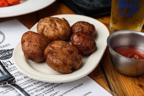 Cajun-Boiled Fried Taters