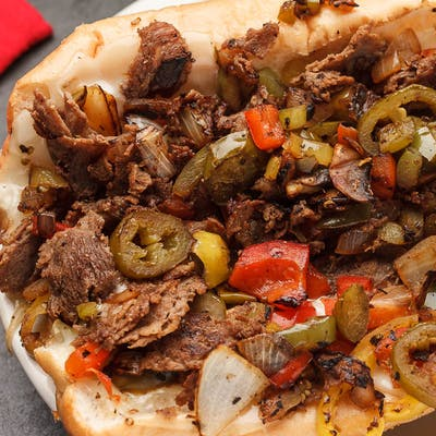 Everything Philly Cheese Steak Sandwich