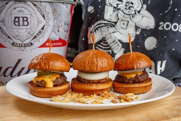 Beer Cheese Burger Sliders