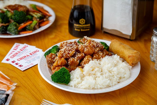 Sesame Chicken Combination Platter