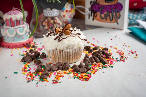 Nutty for Coconut Cupcake