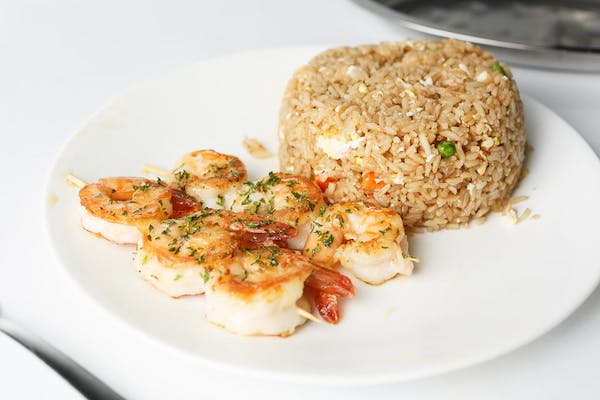 (6) Shrimp with Rice or Fries