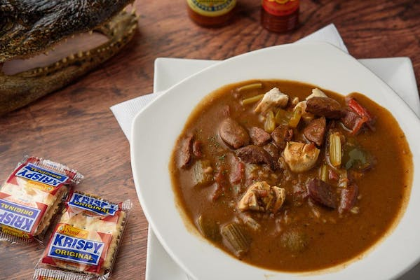 Grilled Chicken & Andouille Sausage Gumbo