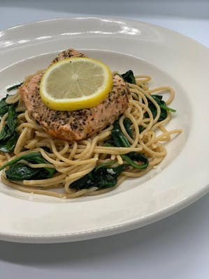 Eat Fit Salmon Pasta