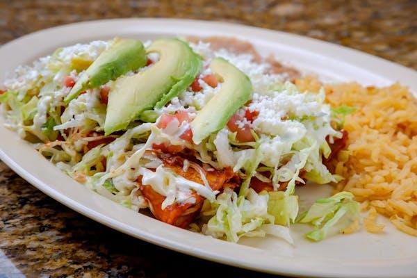Platillo de Enchiladas